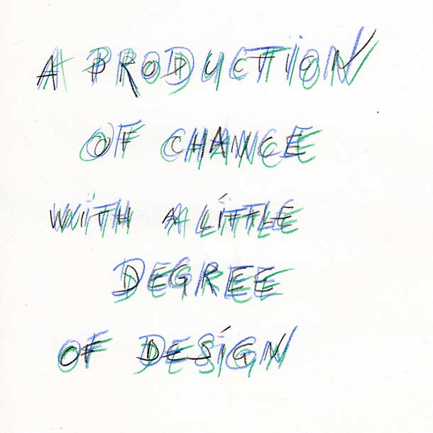 A Production of Chance with a Little Degree of Design Flyer